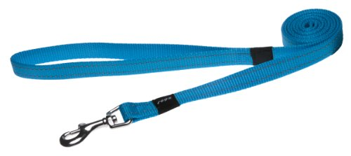 Rogz Utility Medium 5/8-Inch Reflective Snake 6-ft Long Fixed Dog Lead, Turquoise, My Pet Supplies