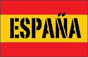El clásico de la bandera de España de Company/español de la ...
