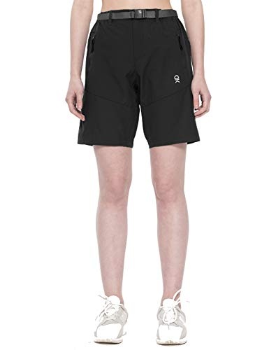 - TOPSUN Womens Lightweight Quick Dry Nylon Cargo Shorts with Zipper Pockets for Hiking Travel Black Size XL