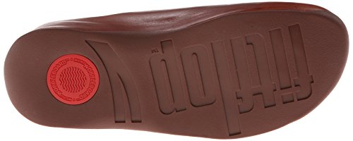 Fitflop Mujeres Shuv Leather Clog Dark Tan