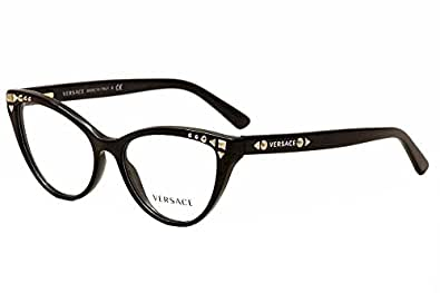 Amazon.com: Versace VE3191 Eyeglasses-GB1 Black-52mm: Shoes