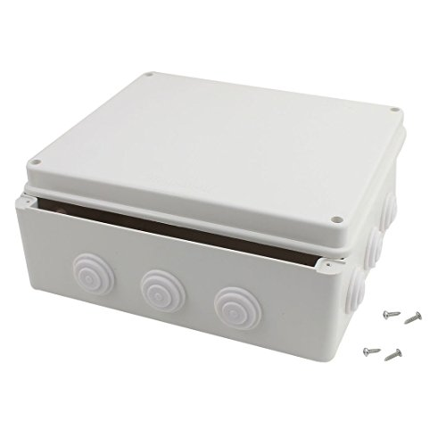 Awclub ABS Plastic Dustproof Waterproof IP65 Junction Box Universal Electrical Project Enclosure White 12''x10''x4.8''(300mmx250mmx120mm) by Awclub
