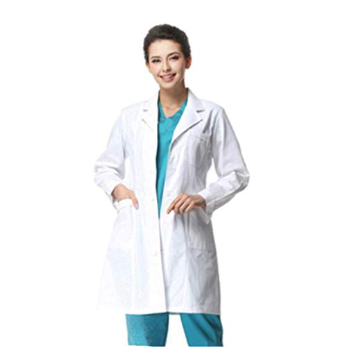 Marosoniy Professional Men Women 40 inch Laboratory Lab Coat with 4 Button Closure - Coat Lab Long Womens