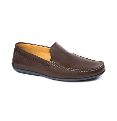 Austen Classics Loafers Brown Leather Men's Driving Heller t8wXtqr