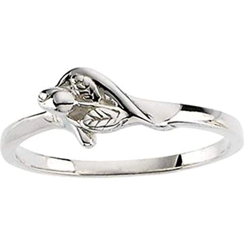 (Bonyak Jewelry Sterling Silver The Unblossomed Rose Ring - Size 7)