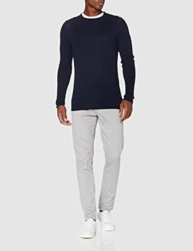 Sisley męski sweter L/S (Sweater L/S), kolor: niebieski Marine , rozmiar: m: Odzież