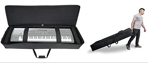 Rockville Rolling Bag Keyboard Case w/Wheels+Trolley Handle For KORG KRONOS X 73