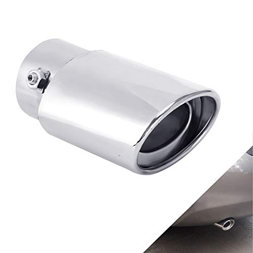 - Dsycar Universal Stainless Steel Car Exhaust Tail Muffler Tip Pipe- Fit Pipes Diameter 1.5 to 2.3 in (Silver)
