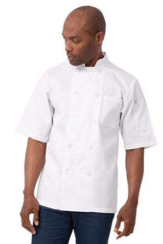Chef Works Unisex Volnay Chef Coat, White Large
