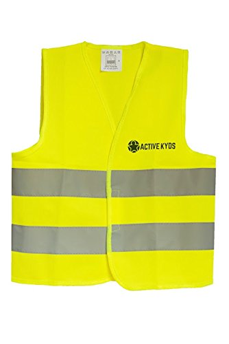 Home Improvement Halloween Costumes (Active Kyds High Visibility Kids Safety Vest for Construction Costume, Biking)