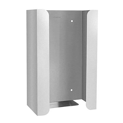 Alpine Industries Single Stainless Steel Glove Box Holder/Dispenser - Easy to Mount Glove & Tissue Holder - for Home & Office Organizing -