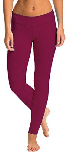 LMB Yoga Pants - Leggings in Multiple Colors - XS to XL LMB3030-Burgundy-L for $<!--$9.99-->