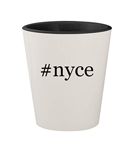 (#nyce - Ceramic Hashtag White Outer & Black Inner 1.5oz Shot Glass)