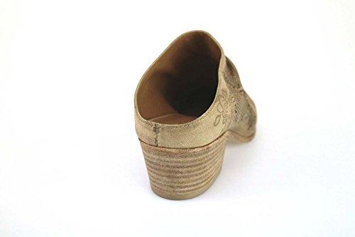 VIC sandalias mujer marrón cuero AK589