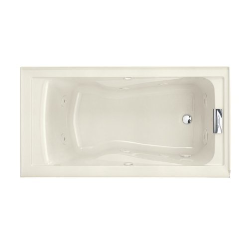 American Standard 2422VC.222 Evolution 6032 Ever Clean Whirlpool Bath Tub, 5-Feet by 32-Inch, Linen