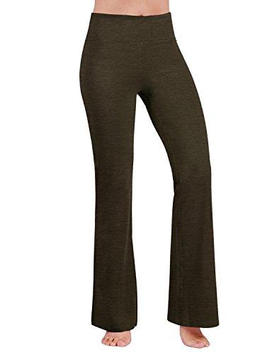 ODODOS Power Flex Boot-Cut Yoga Pants Tummy Control Workout Non See-Through Bootleg Yoga Pants,Olive,Small