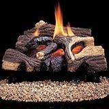 Comfort Flame CRB3624NRA River Canyon Oak Vent-Free Ceramic Fiber Logs, 24-Inch