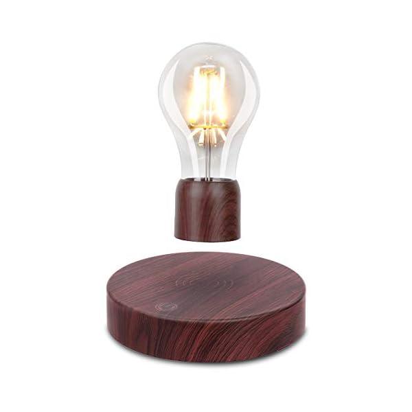 Vgazer Magnetic Levitating Floating Wireless Led Light Bulb Desk Lamp For Unique Gifts Room Decor Night Light Home Blinkee Com