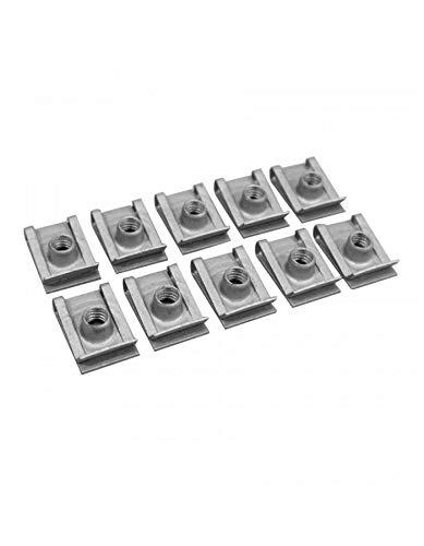 di/ámetro de 6 mm Grapa-Tuerca Chapa para carrocer/ía p2r Paquete de 10 Unidades