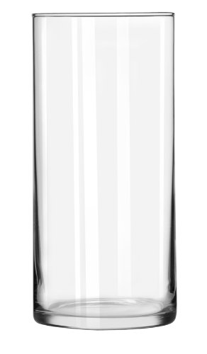 Libbey Cylinder Vase, 7-1/2-Inch, Clear, Set of