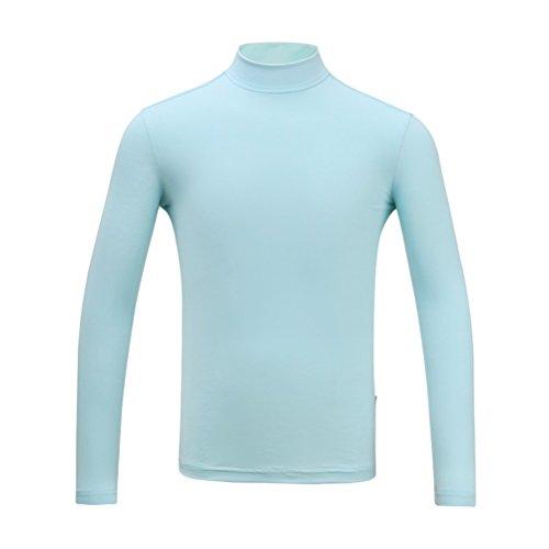 Kayiyasu インナーシャツ キッズ ゴルフウェア ジュニア ゴルフシャツ 男の子 UVカット 薄手 夏物用 薄物 長袖 下着 日焼け止め 021-xsty-yf137(XXL(160cm) グレー)