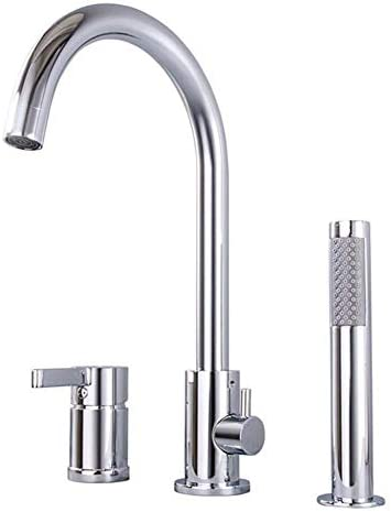 ZGQA-GQA XIAOFENG-BATHバスルームアクセサリーは、浴室のシャワーバスタブコンボ蛇口、スリーピースの銅の浴槽の蛇口、シリンダ側ホットとコールド蛇口プルシャワーがハッピーシャワーを設定します ミキサーシンク用の浴室キッチン盆地タップ