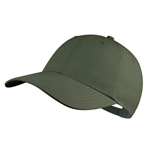Quivk Dry Dad hat Summer Polo Baseball Cap Mens Outdoor Running Run Sports Sport Hats Cool UV Sun Caps Light Breathable Travel Golf Unstructured Trucker Hat for Men Women Girls Unisex Plain Army Green