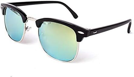 Amazon.com: Skuleer - Half Metal Sunglasses Men Women Brand ...