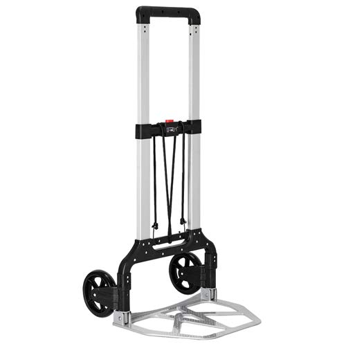 FCH Folding Hand Truck Portable Folding Hand Cart with Wheels 264Lbs Capacity Heavy-Duty Aluminum Luggage Cart