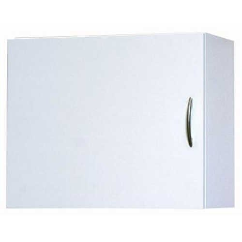 White Wall Cabinet, 19-7/8 in. H x 24 in. W x 12-1/4 in. D with Flat Panel Door and Adjustable Shelf, Hardware Included