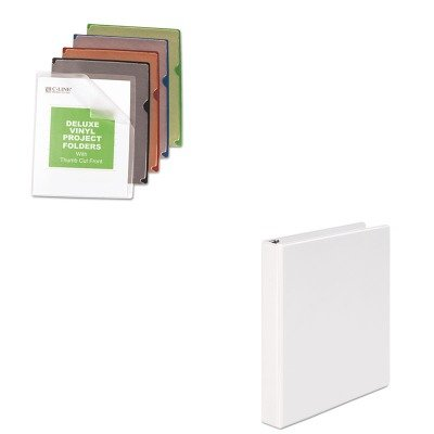 (KITCLI62150UNV20962 - Value Kit - C-line Deluxe Project Jacket Folders (CLI62150) and Universal Round Ring Economy Vinyl View Binder (UNV20962))
