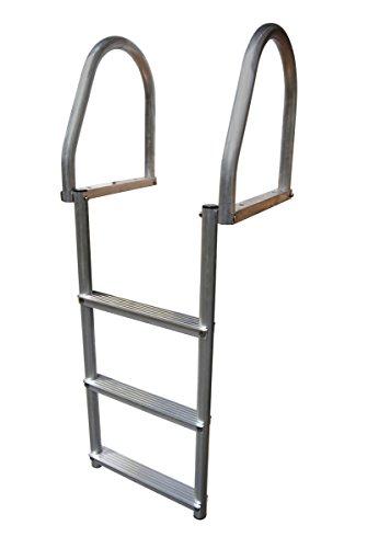 (Dock Edge 2175-F Dock Ladder, 3 Step, Flip Up, Eco Weld Free, Aluminum)