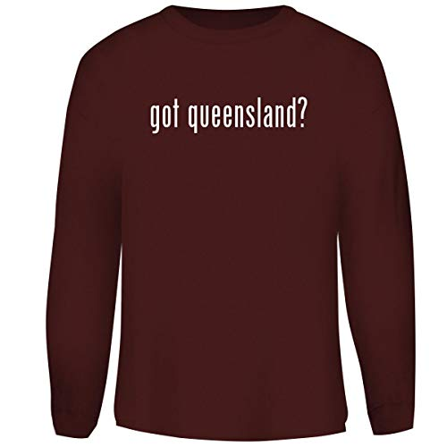 One Legging it Around got Queensland? - Men's Funny Soft Adult Crewneck Sweatshirt, Maroon, XX-Large