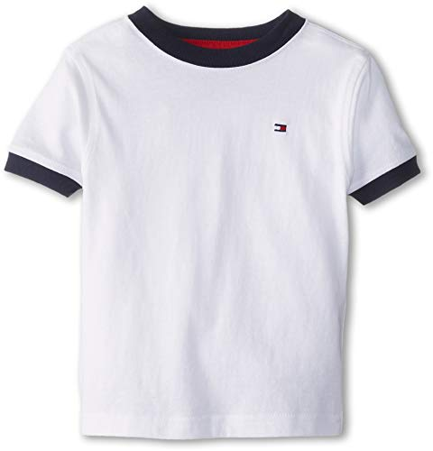 Tommy Hilfiger Boys 2-7 Ken Tee, Classic White,