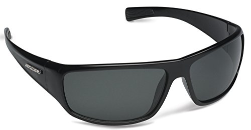Arsenal Primal Polarized Rectangular Sunglasses,Shiny Black,65 - Polarized Lightest Weight Sunglasses