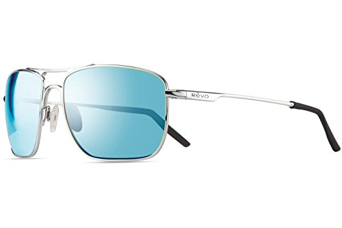 Revo Re 3089gf Groundspeed Navigator Polarized Aviator Sunglasses, Chrome Blue Water, 59 - Revo Polarized