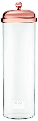 Glass storage jar with copper lid, 2.0- Bodum Glass Storage Jars