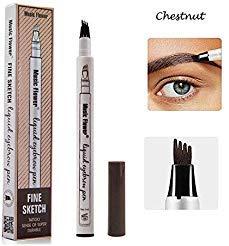 Eyebrow Tattoo Pen-LilyAngel Waterproof Microblading Eyebrow Pencil with a Micro-Fork Tip Applicator Creates Natural Looking Brows Effortlessly(Chustnut,1 pack)