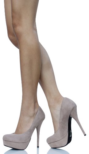 Taupe Faux Pumps High Delicious Jones Delicious Taupe Platform Suede Heel tq68fWESwx