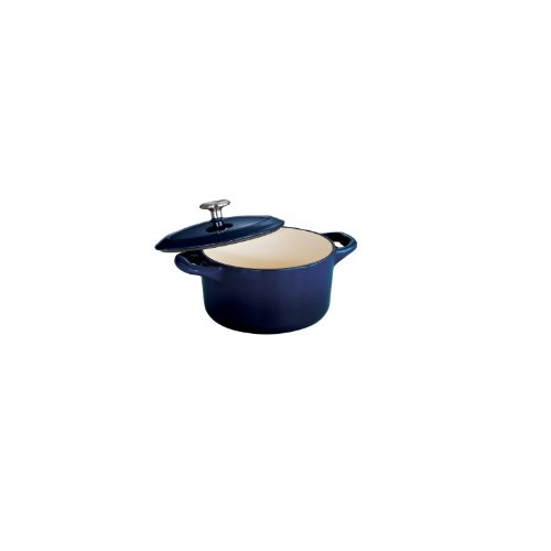 Tramontina Enameled Cast Iron Covered Small Cocotte, 24-Ounce, Gradated Cobalt