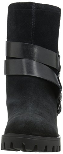 Nine West Womens Outnup Suede Ankle Bootie Black/Black