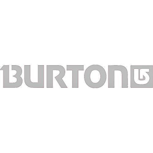 NBFU DECALS Logo Burton (Metallic Silver) (Set of 2) Premium Waterproof Vinyl Decal Stickers for Laptop Phone Accessory Helmet CAR Window Bumper Mug Tuber Cup Door Wall Decoration