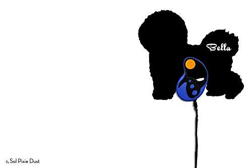Bichon Frise Dog - Custom Name Dog Leash Holder - Wall Hook