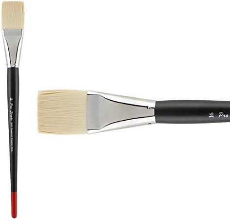 Single Brush Only Flat 16 Creative Mark Pro Stroke Powercryl Paint Brush Professional Acrylic Brush with Synthetic Hair Filament Use with Acrylic Paint and Water Soluble Oils
