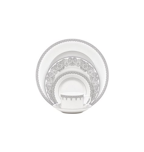 Lismore Lace 5 Piece Place Setting - Made in Indonesia - kitchen-tabletop, kitchen-dining-room, dinnerware-sets - 31ugXCCk5kL -