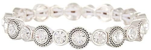 Napier Classics Silver-Tone Stretch Bracelet