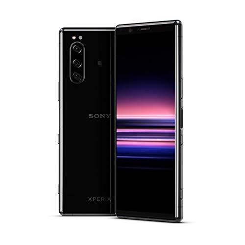 Sony Xperia 5 – 6.1 inches FHD+ HDR OLED 21:9 Display, Triple-Camera-System with Eye AF, 6GB RAM, 128GB Memory – Black…