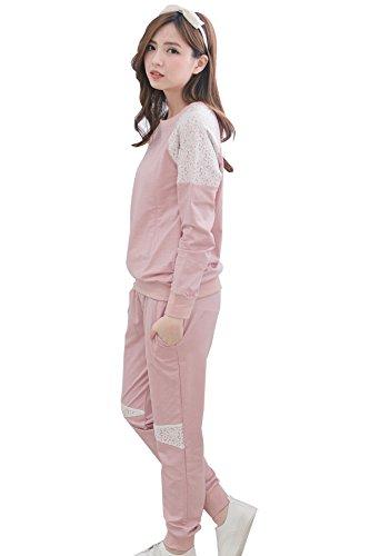 bearsland mujeres maternidad y de primavera invierno algodón sólido lactancia materna y pijama de lactancia Rosa