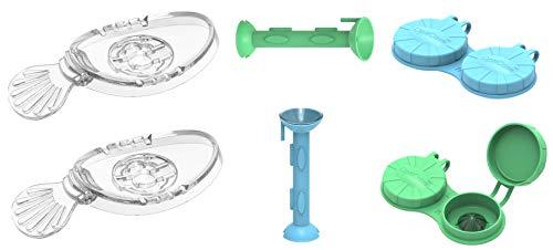 OptiKit2-2 of Each - OptiWand Contact Lens Tool + OptiCase Eye Shaped Contact Lens case + OptiAide Eye Drop applicator