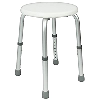 Shower Stool by Vive - Adjustable Bath Seat - Lightweight & Portable Chair for Elderly, Hanicapped, Disabled - Bathroom Safety - Lifetime Guarantee